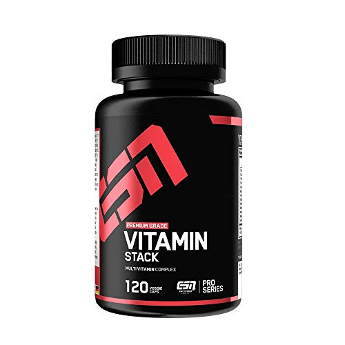 ESN Vitamin Stack – 120 Kapseln – Hochwertiger Multivitamin Komplex – Optimale Dosierung - 120 Portionen – Made in Germany